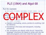 pl i 1964 and algol 68