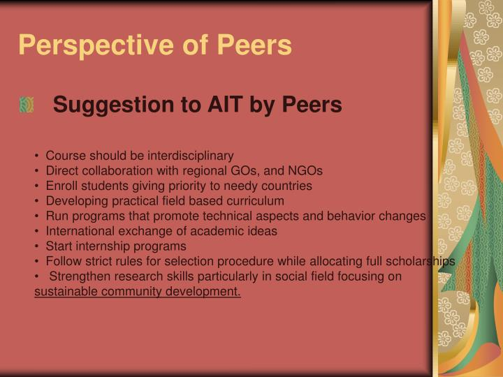 Perspective of Peers