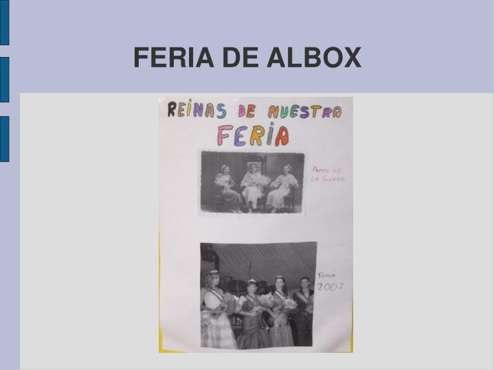 FERIA DE ALBOX