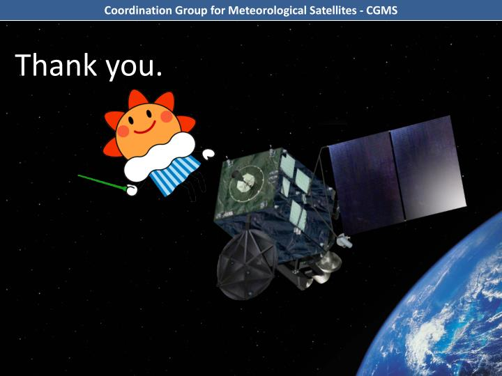 Coordination Group for Meteorological Satellites - CGMS