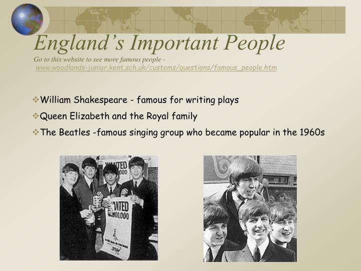 England's Important People
