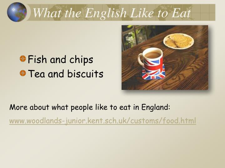 What the English Like to Eat