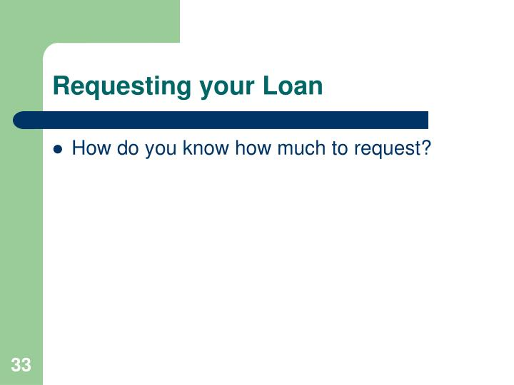 Requesting your Loan