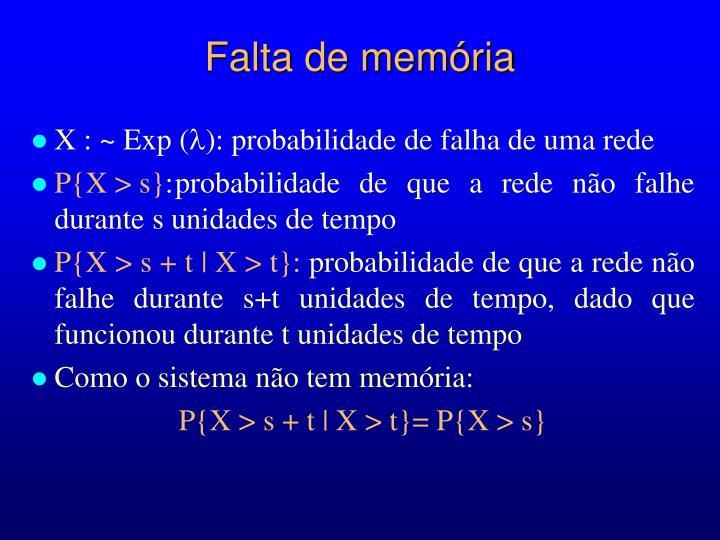 Falta de memória