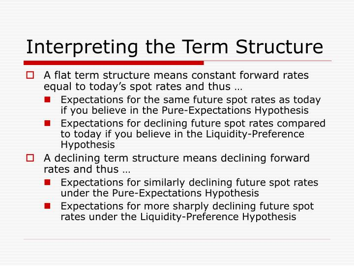 Interpreting the Term Structure