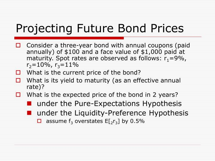Projecting Future Bond Prices