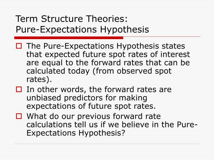Term Structure Theories: