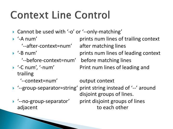 Context Line Control