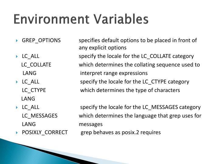 Environment Variables