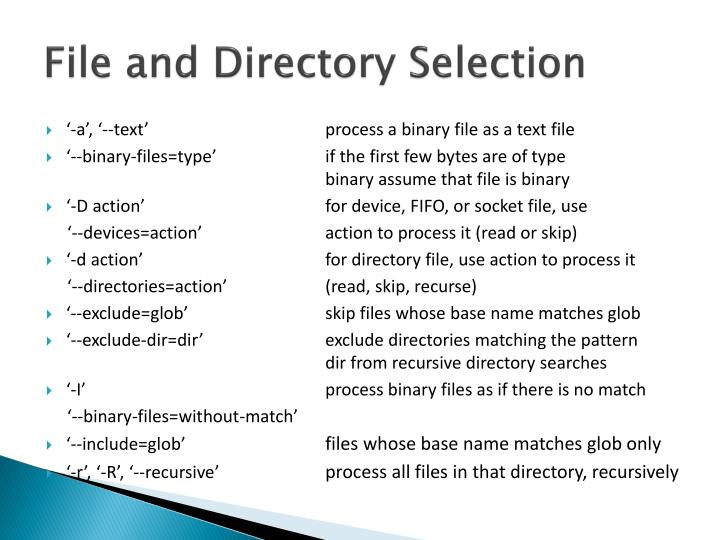 File and Directory Selection