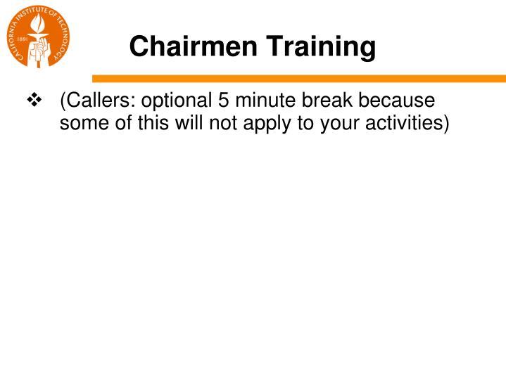 Chairmen Training