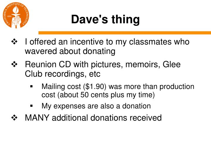 Dave's thing