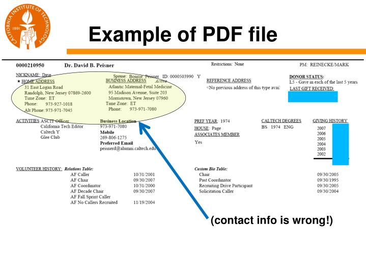 Example of PDF file
