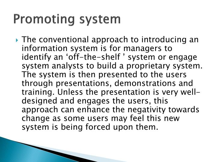 Promoting system