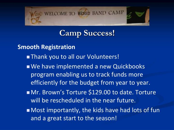 Camp Success!