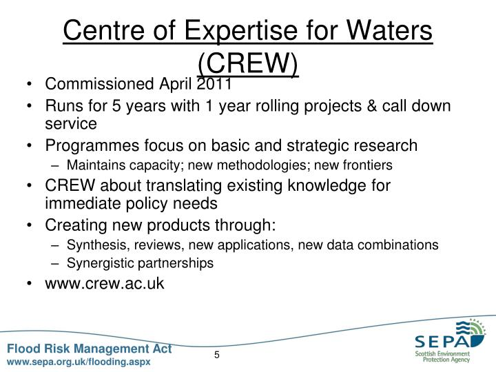 Centre of Expertise for Waters (CREW)