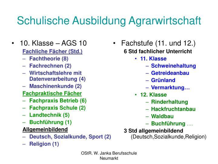 10. Klasse – AGS 10