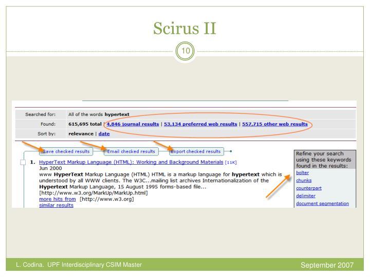 Scirus II
