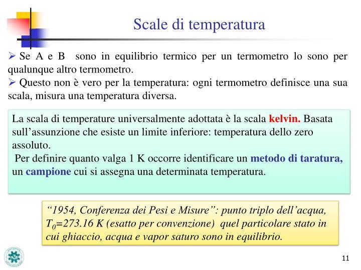 Scale di temperatura