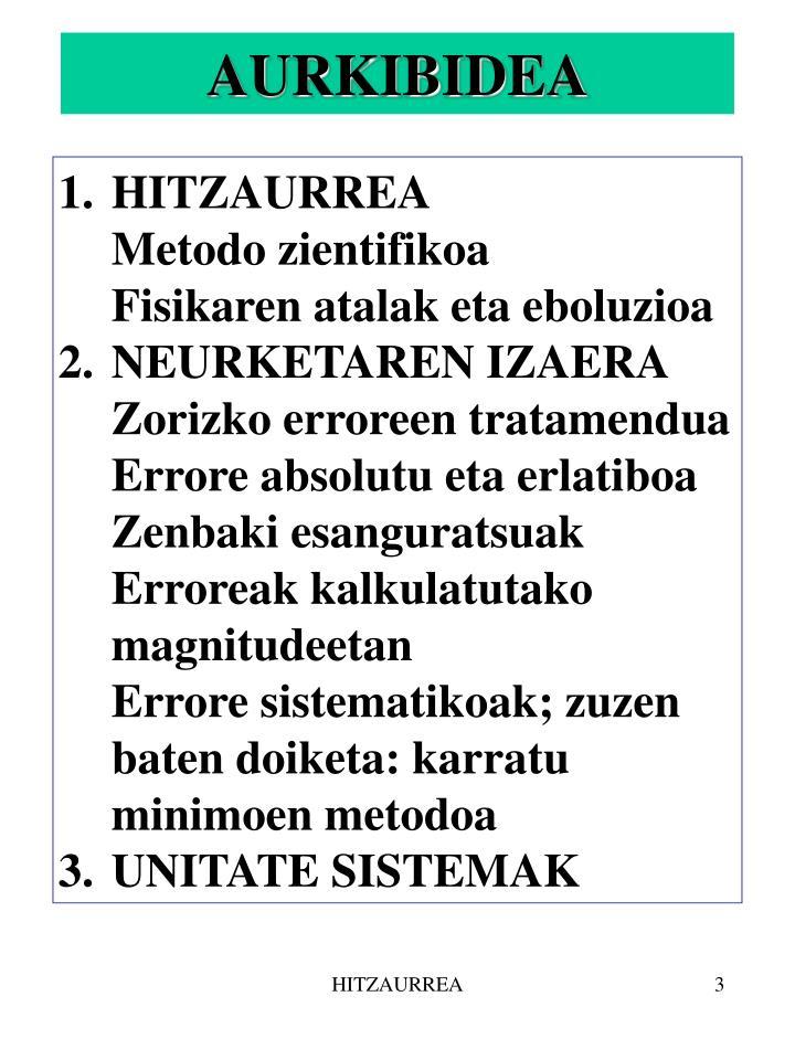HITZAURREA