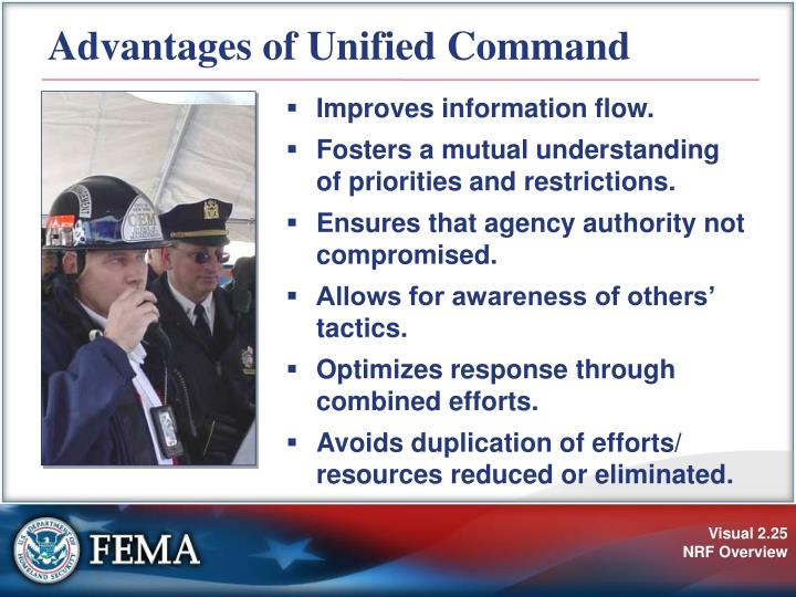 Advantages of Unified Command