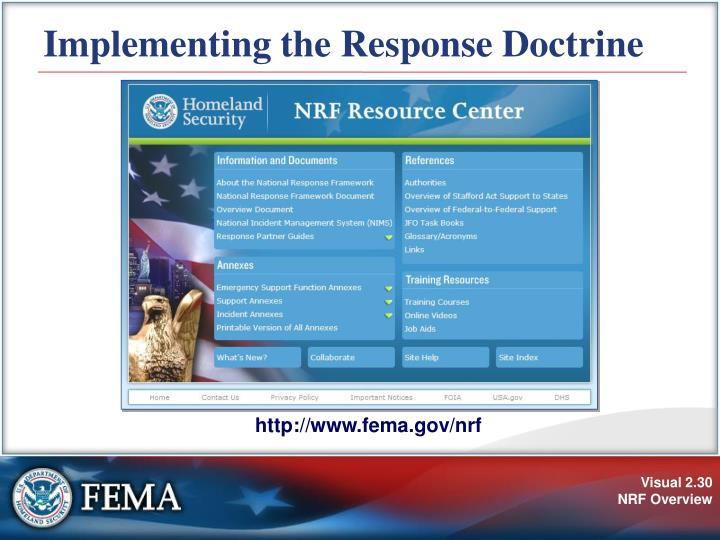 Implementing the Response Doctrine