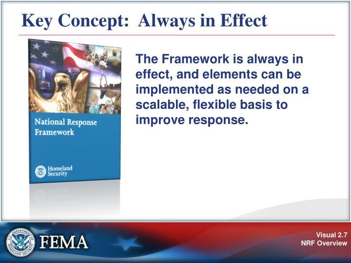 Key Concept:  Always in Effect