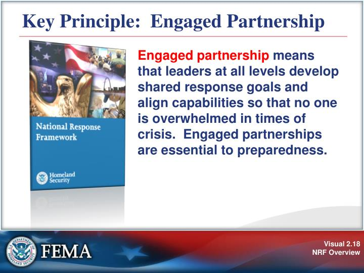 Key Principle:  Engaged Partnership