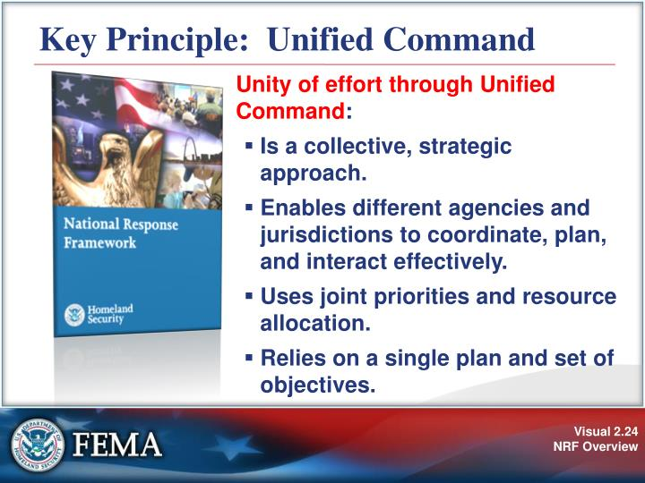 Key Principle:  Unified Command