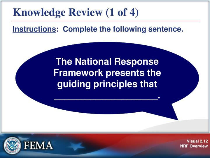 Knowledge Review (1 of 4)