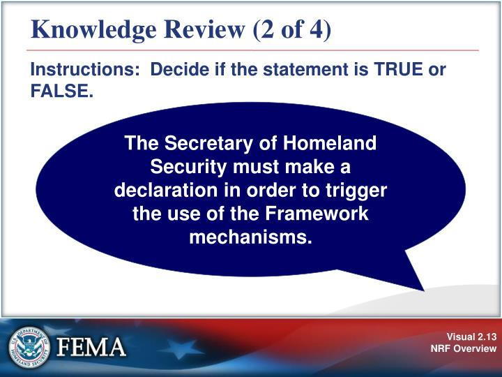 Knowledge Review (2 of 4)