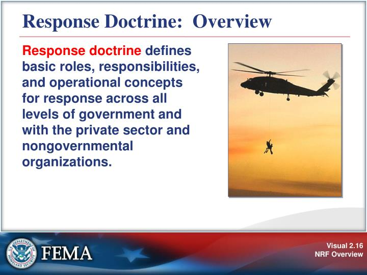 Response Doctrine:  Overview
