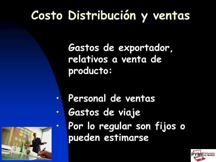 Costo Distribución y ventas