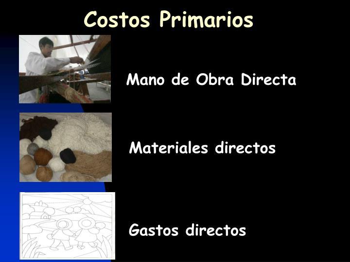 Costos Primarios