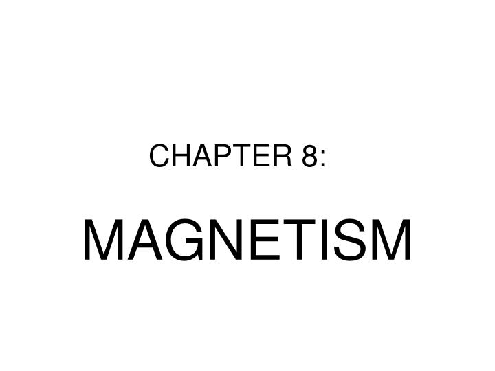 CHAPTER 8: