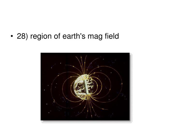 28) region of earth's mag field