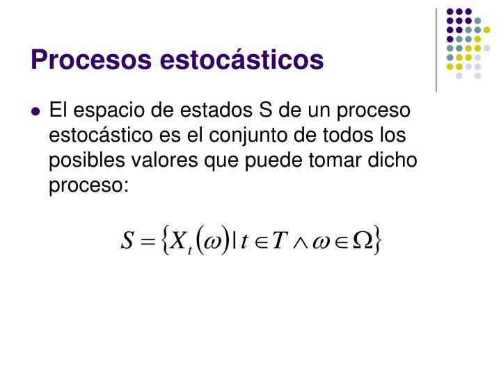Procesos estocásticos
