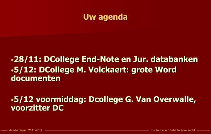 Uw agenda
