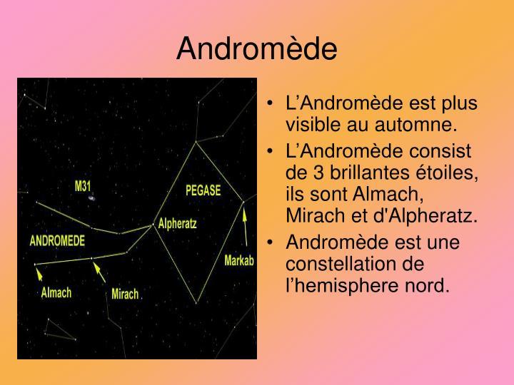 L'Andromède est plus visible au automne.