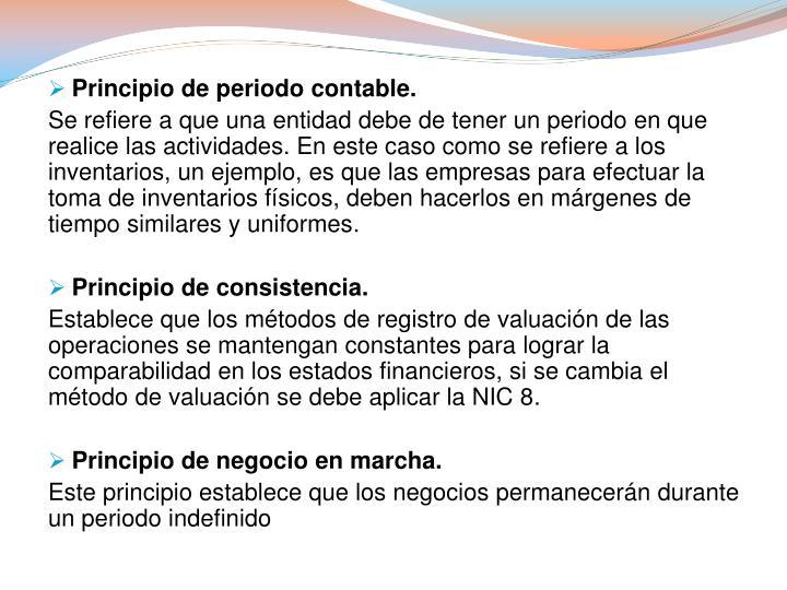 Principio de periodo contable.