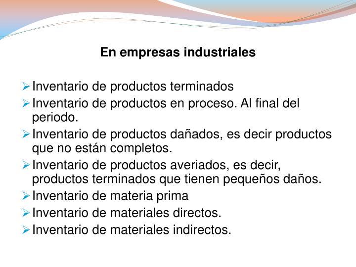 En empresas