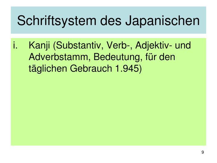 Schriftsystem des Japanischen