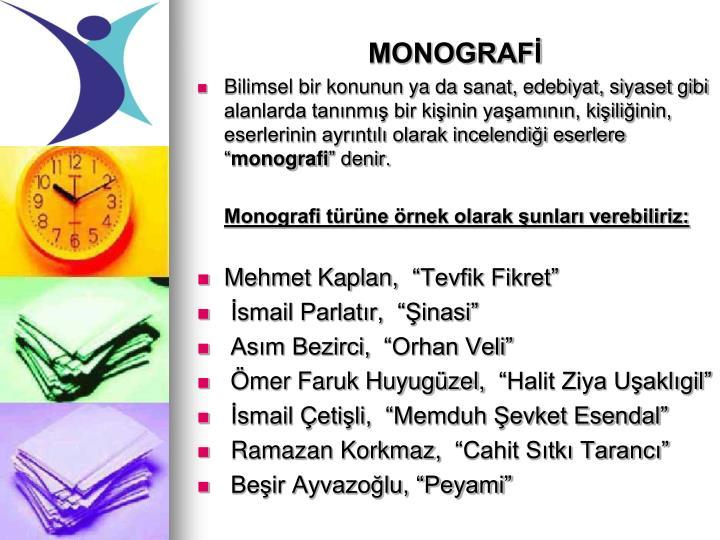 MONOGRAFİ