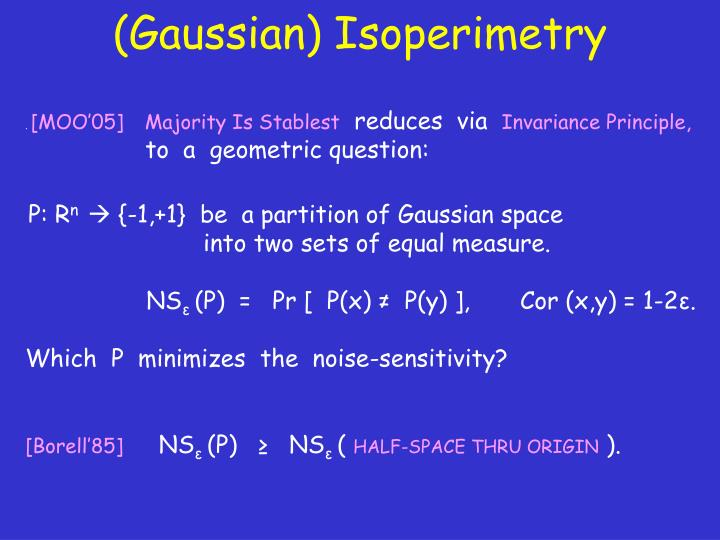 (Gaussian) Isoperimetry