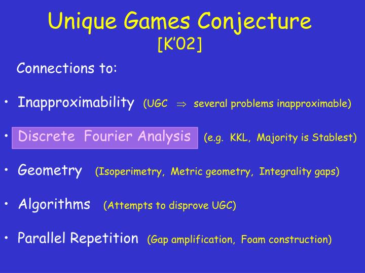 Unique Games Conjecture