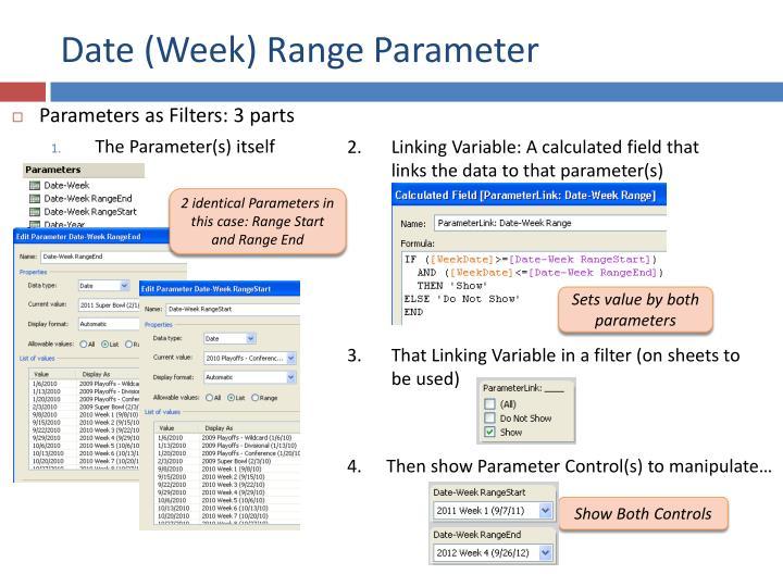 Date (Week) Range Parameter