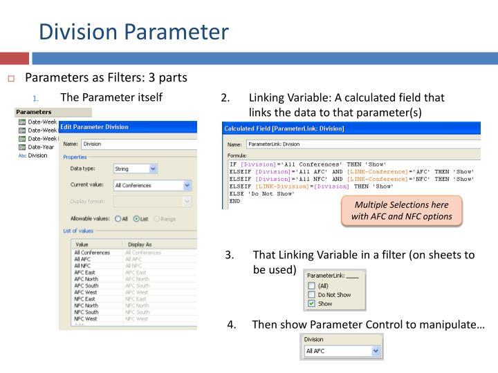 Division Parameter