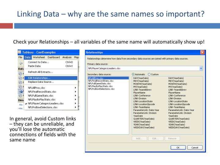 Linking Data – why are the same names so important?