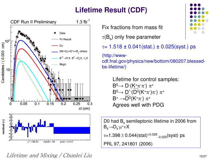 Lifetime Result (CDF)