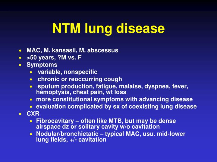 NTM lung disease